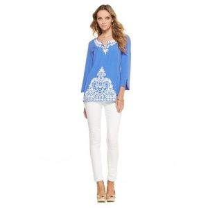 Lilly Pulitzer Charlotte Embroidered Tunic Small
